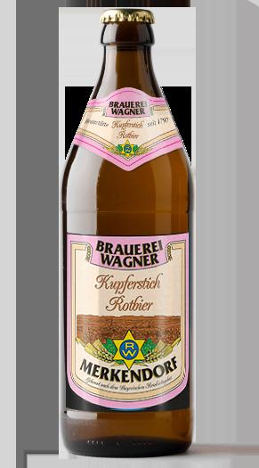Brauerei Wagner Kupferstich Rotbier